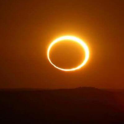 Кольцеобразное Солнечное затмение и новолуние 1.9.16.
